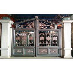 铝艺庭院大门公司|鄂州铝艺庭院大门|陆欧铝艺大门图片