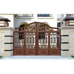 南京电动铝艺大门、庭院电动铝艺大门、陆欧铁艺(优质商家)图片