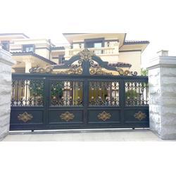 别墅铝艺大门,广州铝艺大门,陆欧铝艺图片