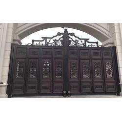 广东铝艺大门-陆欧铝艺大门-铝艺大门围栏图片