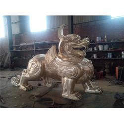 风水铜貔貅铸造-旭升铜雕公司-广西风水铜貔貅图片