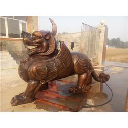 镇宅铜貔貅定做-陕西镇宅铜貔貅-旭升雕塑厂图片