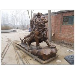 饭店铜狮子加工生产、外蒙饭店铜狮子、旭升铜雕(查看)