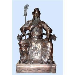 贴金铜关公像-旭升雕塑公司-贴金铜关公像哪家好图片