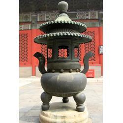 新疆寺院铜香炉-唐县旭升铜雕-寺院铜香炉图片