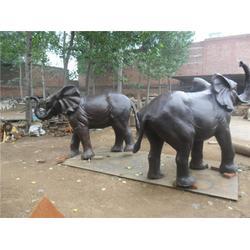 陕西铸铜大象 铸铜大象 旭升铜雕