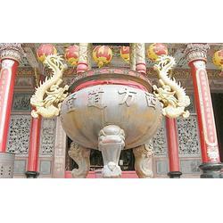 佛堂铜香炉铸造-佛堂铜香炉-旭升铜工艺品图片
