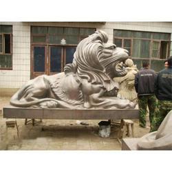 旭升雕塑公司 景观飞狮雕塑加工-贵州景观飞狮雕塑图片