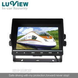厂家7寸触摸按键显示器,两路倒车优先显示器,后视显示器图片