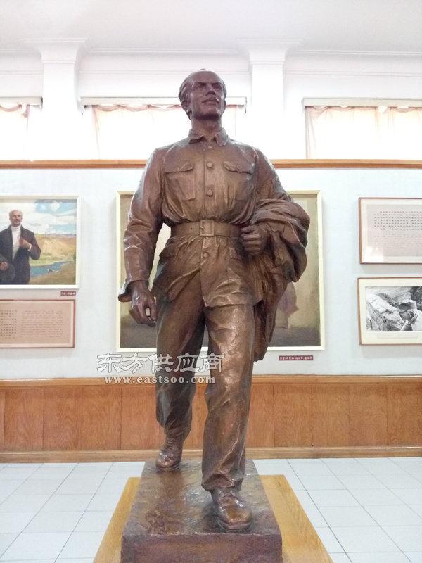 旭升铜雕|甘肃历史名人雕塑|周恩来铜像图片