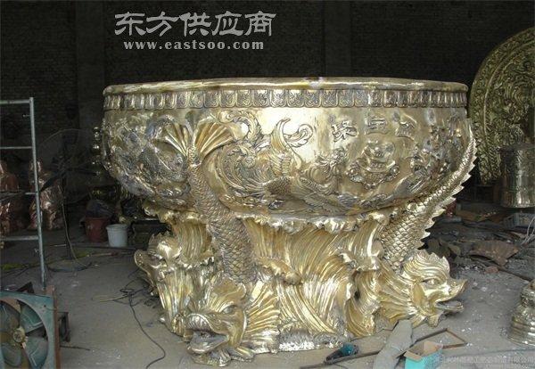 河北铸铜大缸-旭升铜雕公司-铸铜大缸厂家地址图片