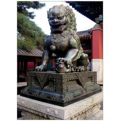 山西铸铜狮子|旭升铜雕(在线咨询)|大型铸铜狮子图片