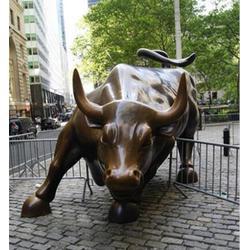 旭升铜雕|广东华尔街铜牛雕塑|广东华尔街铜牛雕塑生产厂家图片