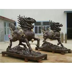 内蒙古优质铸铜麒麟,旭升铜雕,优质铸铜麒麟多少钱