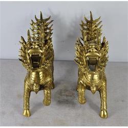 旭升铜雕-镇宅纯铜麒麟雕塑-陕西镇宅纯铜麒麟图片