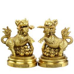 旭升铜雕,太原铸铜麒麟雕塑厂家,山西铸铜麒麟雕塑厂家图片