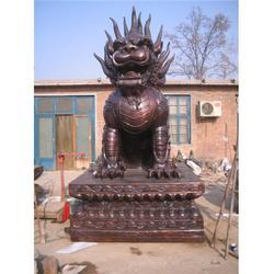 旭升铜雕、山西铸铜麒麟雕塑、铸铜麒麟雕塑生产厂家图片