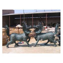 山西优质铸铜麒麟|旭升铜雕|优质铸铜麒麟厂家图片