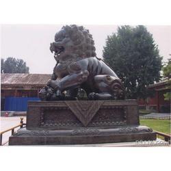 新疆铜狮子、旭升铜雕、汇丰铜狮子图片