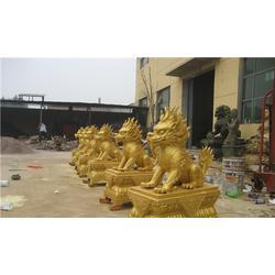 内蒙古铸铜麒麟雕塑厂家_服务为先|旭升铜雕图片