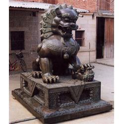 哈尔滨别墅铜狮子,旭升铜雕,别墅铜狮子生产厂家图片
