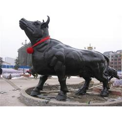 内蒙铸造铜牛雕塑 内蒙古铸造铜牛雕塑定做 旭升铜雕(多图)图片