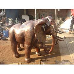 旭升铜雕_青海铸铜大象_铸铜大象制作图片