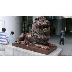 山东镇宅铜狮子|旭升铜雕|镇宅铜狮子加工生产图片