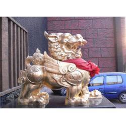 河南2米铸铜狮子,2米铸铜狮子铸造厂,唐县旭升铜雕图片