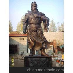 广东铜关公像制作厂家在哪儿_广州铜关公像制作_旭升铜雕图片