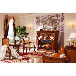 江苏非洲花梨木餐桌椅-欧尔利红木工艺精湛-非洲花梨木餐桌椅厂图片