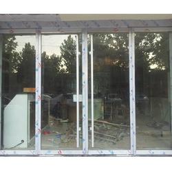 玻璃门安装维修|济南鑫源技术高|纬一路玻璃门安装图片