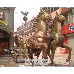 铜雕马拉车优惠做工精美选渡缘雕塑图片