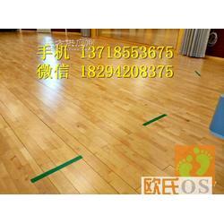 篮球木地板生产厂家 运动实木地板 枫木运动地板图片