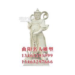 石雕财神五显财神爷图片