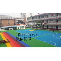 悬浮式运动地板 幼儿园悬浮拼装地板 专业安装图片