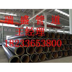 直埋式预制聚氨酯保温管|瑞盛管道|聚氨酯保温管图片