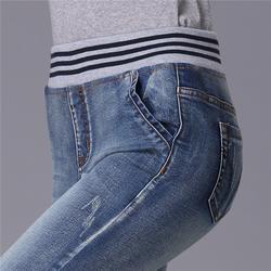 松紧腰牛仔裤厂家|爱裤者(在线咨询)|广州松紧腰牛仔裤图片