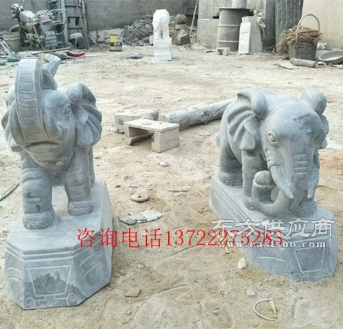 青石大象石头象看门石象汉白玉青石大象招财大象图片