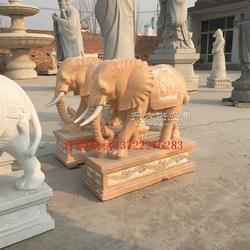 80公分高晚霞红小象,招财小象,丰路石雕图片