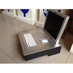 电教室电动翻转电脑桌尺寸-博奥-大连电动翻转电脑桌图片