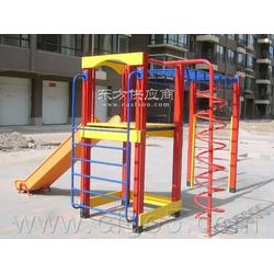 户外儿童娱乐设施-组合攀高滑梯生产厂家图片