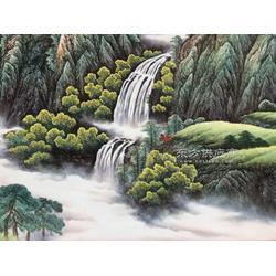 供应家居装饰瓷板画 定做背景墙大瓷板画图片