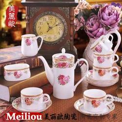 陶瓷青花玲珑餐具图片