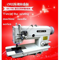 供应奥玲皮革制品双针三同步缝纫机 直驱平缝机工业缝纫机图片