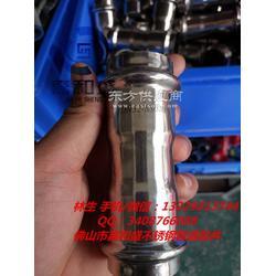 DN32卡压式直通-304不锈钢双卡压直通厂家图片