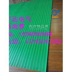 防滑绝缘胶垫厂家,绿色竖条防滑绝缘胶垫,宇达电气图片