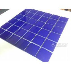马赛克游泳池瓷砖蓝色防滑陶瓷马赛克 厂家生产供应图片