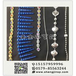 义乌电镀连线珠|圣金工艺品质量放心|电镀连线珠供应商图片