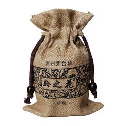 麻布袋|荆门束口麻布袋厂家|麻布酒袋定做图片
